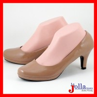 BR02 Sepatu High Heels Wanita Glossy Polos Hak Tinggi 7 cm yang Cantik
