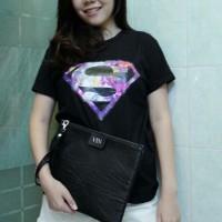 Tumblr Tee / T-Shirt / Kaos Wanita / Superman Galaxy