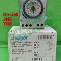 timer/timer switch analog hager eh111 otomatis lampu EH111TIMER HAGER