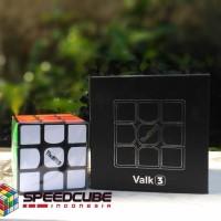 Rubik 3x3 Valk 3 Qiyi | Black & Stickerless The Valk 3x3x3