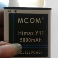 Baterai Himax Y11 double power merk mcom