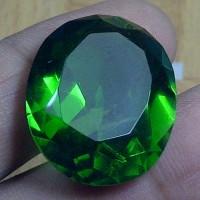 Batu Permata Meteor Hijau / Green Tektite + Memo