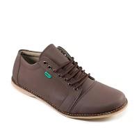 Sepatu Pria Formal Casual Kickers Shaka Brown Grade Original Termurah