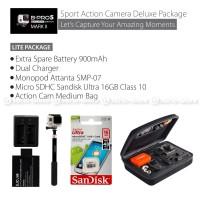 Paket Camera Brica B-PRO 5 4k wifi kamera version AE2 full set