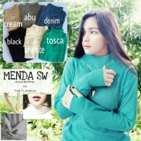Jual MENDA SWEATER turtleneck VS roundhand sweater halter high Murah