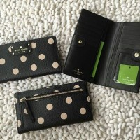 JUAL DOMPET KATE SPADE STACY WELLESLEY BLACK DOT ORIGINAL ASLI