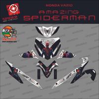 Sticker striping motor stiker Honda Vario 110 Karbu Spiderman Spec B