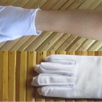 WHITE GLOVES sarung tangan kain silk pendek putih cosplay anime motor