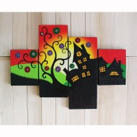 harga lukisan motif rumah dot aborigin Tokopedia.com