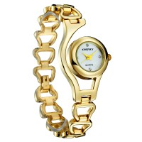 KINGSKY Fashion Quartz Women 30M Water Resistance KY070-2 Golden