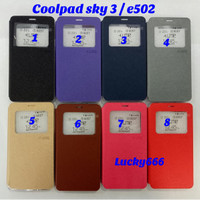 Wallet ume ori coolpad sky 3 e502 case cool pad sky 3 coolpad sky3