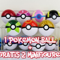 Pokeball, Pokemon Ball + Gratis Mini Figure