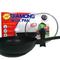 Wajan Penggorengan Wok Pan Diamond Anti Lengket