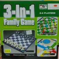 3 In 1 Family Game : Chess, Ludo, Dan Ular Tangga