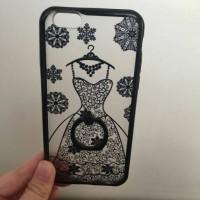harga Case iPhone 6 & 6+ iRing | Wedding Dress Black White | Lucu Murah Unik Tokopedia.com