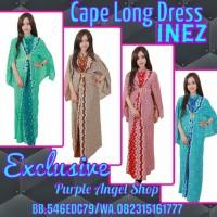 KAFTAN Cape Long Dress BUSANA GAMIS EXCLUSIVE Batik Jumputan INEZ