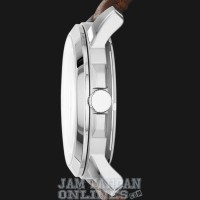 Jam Tangan Pria Fossil ME3052 Grant Cream Dial Brown Leather Strap
