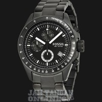 Jam Tangan Pria Fossil CH2601 Decker Chronograph Black Stainless Steel