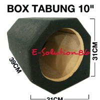 "Box Subwoofer Tabung 10"" Box Speaker , Box Salon , Box Panjang"