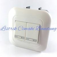 Jual Panasonic Saklar Double / Seri WEJ 5531(x2) + Frame WEJ 78029W Murah