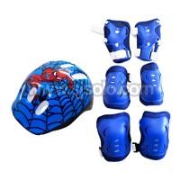 harga Paket Helm Dekker Decker Pelindung Lutut Siku Inline Skate Sepatu Roda Tokopedia.com