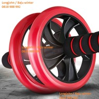 Jual Double Wheel / Roda Fitnes Otot Lengan / Gym Power Wheel Ab Roller Murah