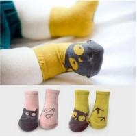 Cat owl baby socks / Kaos kaki anak bayi gambar kucing burung hantu