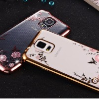 Casing Cover Hp SAMSUNG GALAXY S5 Flower Diamond Case