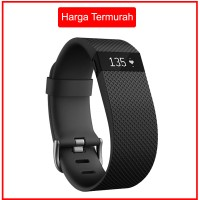 harga Fitbit Charge HR Wireless Wristband - Size L - Hitam - iOS & Android Tokopedia.com