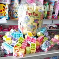 Mainan Edukasi Block Lego Yoyo 160pcs / Block Anak Balita isi 160