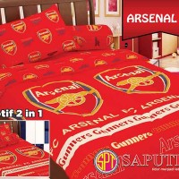Bed Cover Set Saputra Single 120 x 200 Arsenal