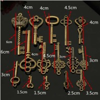 harga 15pcs Pendants kunci antik cinta / mahkota / untuk gantungan / kalung Tokopedia.com