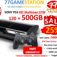 (PS3) SONY PLAYSTATION 3 FAT CFW (REF) 500GB (LENGKAP & TERMURAH)