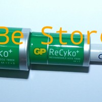 GP Baterai Adapter Converter Selongsong AA to D and C size