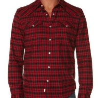 harga Original Levi's LS Western Flannel Shirt Kemeja Branded Levis Ori Tokopedia.com