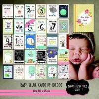 Baby Selfie Cards / Baby Milestone Cards / Kartu Tumbuh Kembang Bayi