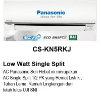 AC Panasonic 1/2 PK CS-KN5RKJ LOw Watt + Eco Smart + Alowa Plus
