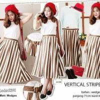 vertical stripe skirt