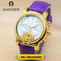 Jam Tangan Wanita Aigner Blossom Super Purpel Color Fashion Supplier