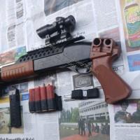Airsoft gun Spring Shotgun K7 K7G Wood ACM Box