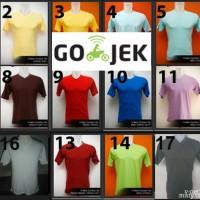 Kaos Polos V-neck Lengan Pendek Warna L,XL