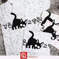 kaos korean cat (kaos murah)