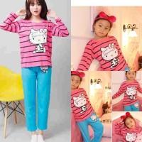 harga Baju Tidur Setelan Panjang Piyama Couple Ibu Anak - HK Mom Kids Pinky Tokopedia.com
