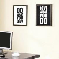 Jual Satu Set Poster Quote Inspiratif - Pigura Hiasan Dinding Ruang Kerja Murah