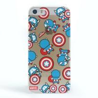 iBuy iPhone 5, 5S & 5SE Cute Captain America Ultra thin Hardcase CLEAR