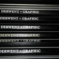 Pensil Derwent Graphic (2H, HB, 2B, 4B, 6B, 8B)