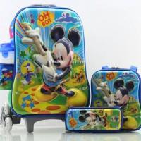 Tas Trolley Anak Micky 6D 4in1 Set