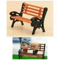 miniature kursi taman bangku taman ornament dekorasi terrarium maket