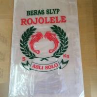 Plastik beras 5 kg cap Rojolele dan Jempol