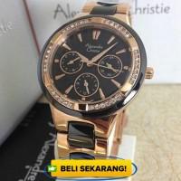 Jam tangan Wanita Alexandre christie 2299 Rose gold hitam orig Limited